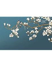 Behang 3D muurschildering klassieke hand geschilderd Magnolia vogel behang muurschilderingen voor woonkamer en slaapkamer muurdecoratie 400cm X 280cm(breedte X hoogte)