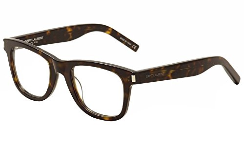 Saint Laurent Eyeglasses SL50 SL/50 006 Havana/Transparent Optical Frame - Laurent Saint Shop