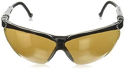 Uvex S3201 Genesis Safety Eyewear, Black Frame, Espresso Ultra-Dura Hardcoat Lens