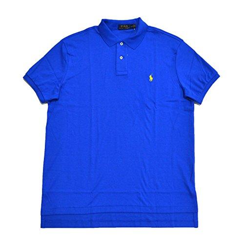 Polo Ralph Lauren Mens Medium Fit Interlock Polo Shirt (Small, Blue)