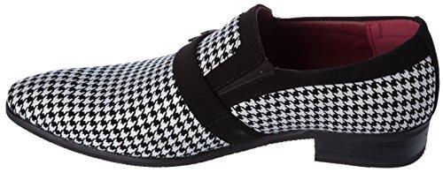 Slip Loafer Shoes White Mens Black On Rogan Dress Fellini Alberto q4P6Tx