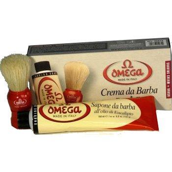 Amazon.com: OMEGA Gift Set - Brush & Tube of Shaving Cream: Beauty