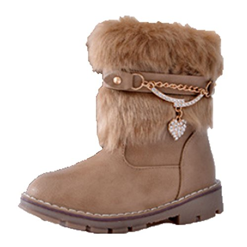 Ohmais Kinder Mädchen flach Freizeit Sandalen Sandaletten Kleinkinder Mädchen Kinderschuhe Stiefeletten Kaki