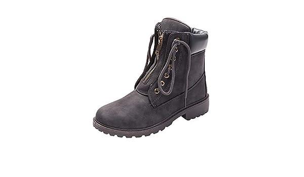 Beladla Zapatos De Mujer Estilo BritáNico Botas Zapatos De OtoñO E Invierno Botines Zapatos De Invierno Tacones TacóN Zapatillas Interiores: Amazon.es: Ropa ...
