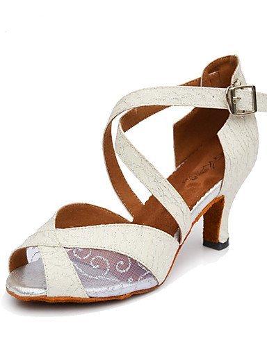 ShangYi Chaussures de danse(Noir / Blanc / Or) -Non Personnalisables-Talon Bobine-Paillette Brillante-Salsa , black-us6 / eu36 / uk4 / cn36 , black-us6 / eu36 / uk4 / cn36