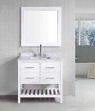 30 Belvedere London White Bathroom Vanity W Marble Top Amazoncom