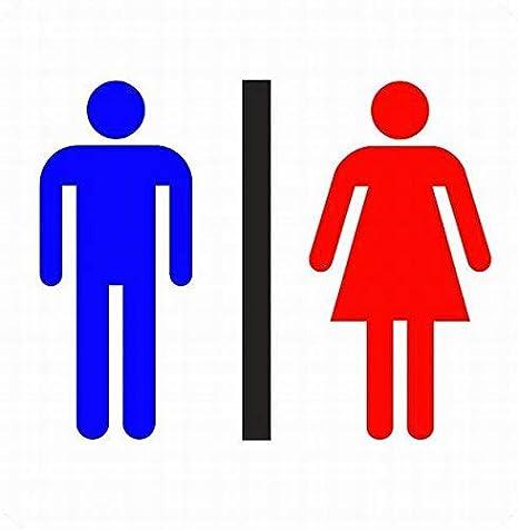 Queen54ferna señal de Inodoro para Puerta de baño Masculino ...