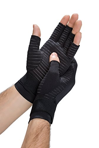 Copper Fit Hand Relief Compression Gloves by Copper Fit