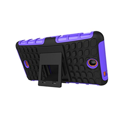 Microsoft Lumia 430 Dual Funda,COOLKE Duro resistente Choque Heavy Duty Case Hybrid Outdoor Cover case Bumper protección Funda Para Microsoft Lumia 430 Dual SIM - Blanco púrpura