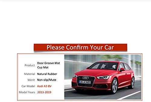 linfei Anti-Rutsch-Gate Slot Mat Gummiuntersetzer F/ür Audi A3 8V 2013-2019 S3 Rs3 Rs 3 S Linie Zubeh/ör Aufkleber