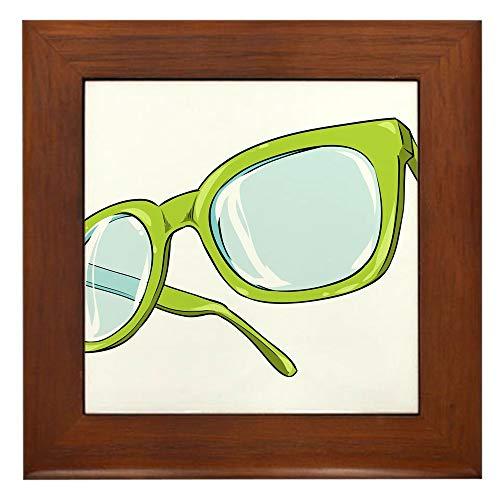 CafePress Glasses Nerd Hipster Framed Tile, Decorative Tile Wall Hanging (Hipster-frame-brille)