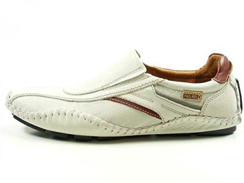 Pikolinos 15A-6079 Fuencarral Zapatos Mocasines de cuero para hombre Weiß