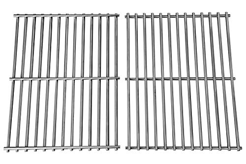Hongso Grill Grates, Durable 304 Stainless Steel Solid Rod, 17 3/16 x 13 1/2 inch Each Cooking Grid Grate, for Grill Master 720-0697, Nexgrill and Uniflame Gas Grills (2 Pieces, ()