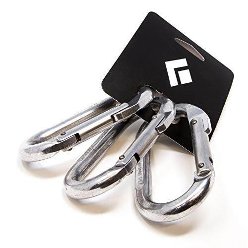 Black Diamond Oval 3 Pack Carabiner - Polished (Diamond Black Carabiner Oval)