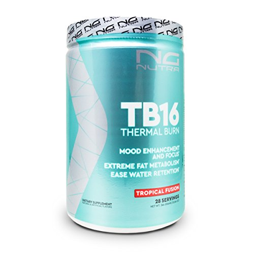NG Nutra TB16 Thermal Burn, Reduce Fat, Support Energy, Mood, Concentration, Ease Water Retention, Metabolize and Tone, Sweetened with Sucralose, Tropical Fusion by NG Nutra