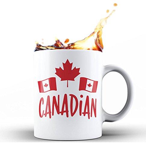Canada Cup (Shop4Ever Canadian Flag Maple Leaf Novelty Ceramic Coffee Mug Tea Cup Gift ~ Canada ~ (White, 11 oz.))