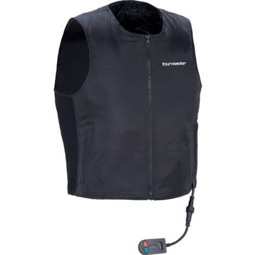 (Tour Master Synergy 2.0 Men's Heated Liner Sports Bike Racing Motorcycle Vest - Black/Small)