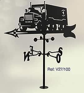 Rustiluz Veleta de Viento. con Silueta camion. Forja.: Amazon.es ...