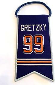 Wayne Gretzky Edmonton Oilers Jersey Retirement Banner Pennant #99