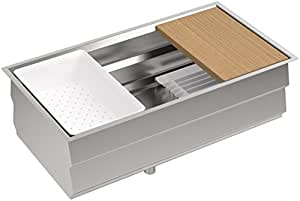 Kohler Prolific 33 Inch Workstation Stainless Steel Single