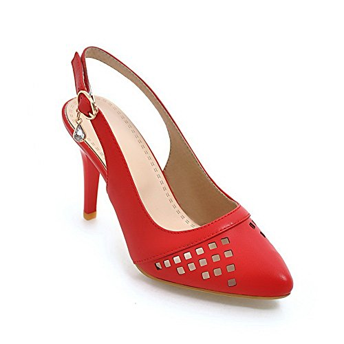 Inconnu Compensées Sandales 1TO9 Red Femme MJS03491 rqrZgxUnw