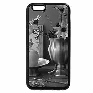 iPhone 6S Plus Case, iPhone 6 Plus Case (Black & White) - Daisy duo