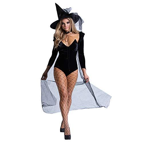 Today Cast Halloween Costumes (Yandy Exclusive Women's Halloween Sexy Velvet Witch Costume Black)