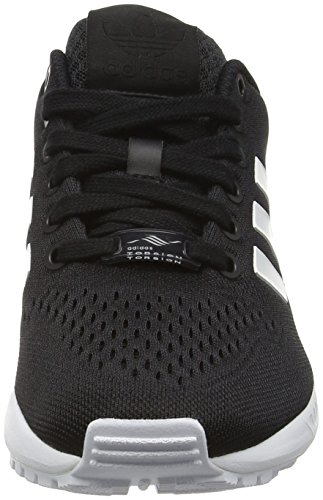 Adidas Original Zx Flux Em Hommes Formateurs Noir S76499 Noir / Blanc