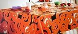 """Halloween Pumpkin Party Vinyl Tablecloth (60"""" X 84"""" - Oblong)"""