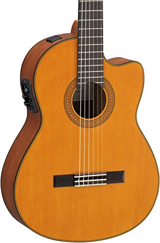 Yamaha CGX122MCC Classical Acoustic-Electric Guitar, Solid Cedar (Cedar Top Acoustic Guitar)