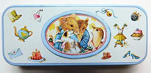 Vera the Mouse Vintage Mint Hallmark Marjolein Bastin Tin Box with Hair Barrette