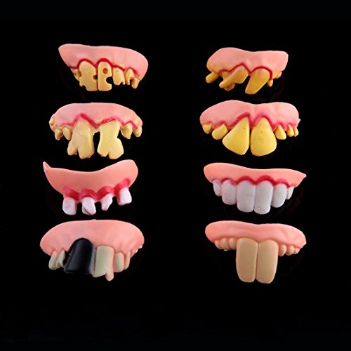 [YUFENG Rubber Fake Teeth Halloween Costume Party Prank Trick Props Jokes Toy Wacky Hilarious Dentures (set of] (Hilarious Costumes Ideas)