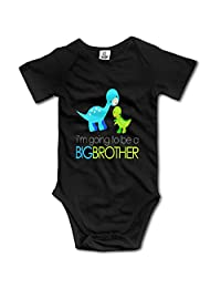 Dinosaur I'm Going To Be A Big Brother Gift Neutral Outfits Baby Onesies Short Sleeve
