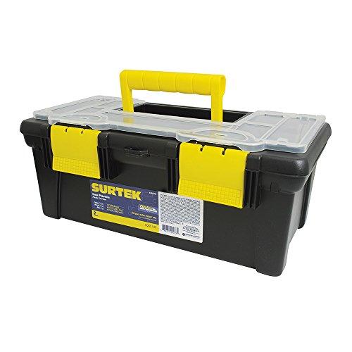 Surtek 125073 Caja Portaherramientas Plástica Broche Plásticos, 16-3/16'