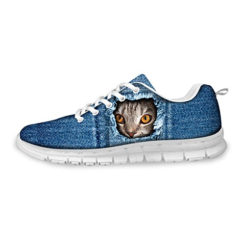 HUGS IDEA Cat Eyes Pattern Cute Womens Casual Sneakers Comfort Running Shoes Cat 6 9HSlE