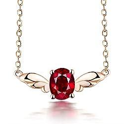 Rose Gold Sapphire Ruby Tourmaline Pendant