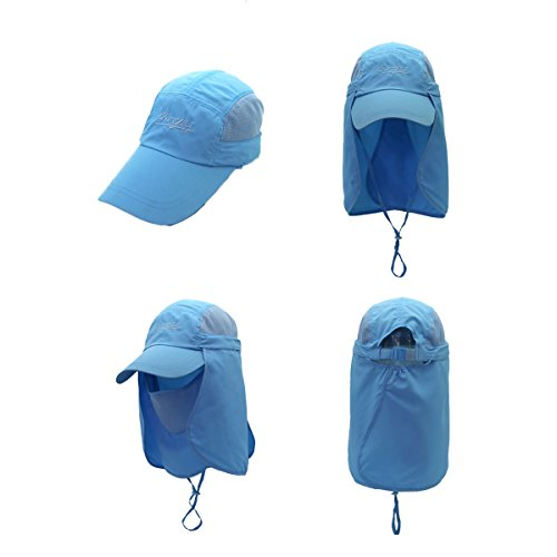 Surblue Quick-drying Outdoor Cap UV Protection Sun Hats Fishing Hat Neck  Face Flap Hat 0c1123176c8b