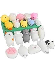 Leksaker Party Bag Fillers Favors För Barn Random 20st Cat Panda Softtoy Merry School Game Priser Vuxna Klämma Stress Relief För Solid Gift