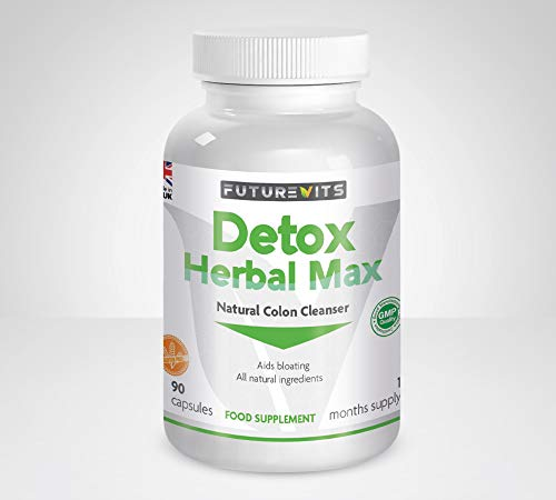Detox Colon Cleanse Made in UK Max Strength Weight Loss Formulation 90 Capsules