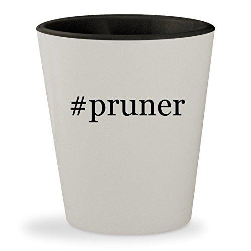#pruner - Hashtag White Outer & Black Inner Ceramic 1.5oz Shot Glass (Tree Telescoping Trimmer Electric)