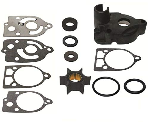 EMP Water Pump Impeller Kit for Mercury Outboard 30 35 40 45 50 60 65 70 Hp with Plastic Water Pump 1963-1990 2,3&4 Cyl Replaces 46-60366A1 18-3507 Read Item Description for Applications ()