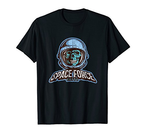 Space Force Elite Skull Distressed Shirt ()