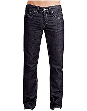 Men's Slim Leg Relaxed Fit Big T Grey Stitch Jeans in BZ Glorious