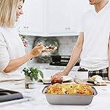"Nonstick Carbon Steel Baking Bread Pan, Medium Loaf Pan, 8 1/2"" x 4 1/2"", Set of 3"