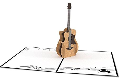 cumplea/ños uniqueplus Guitarra Ac/ústica 3d Pop Up Kirigami Tarjetas de regalo de felicitaci/ón para aniversario gracias d/ía de la Madre Pareja bodas d/ía del padre