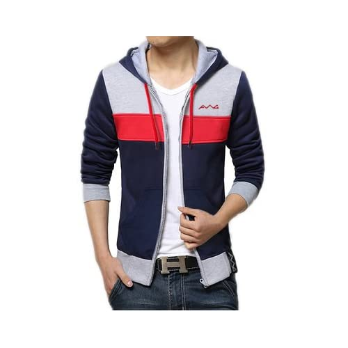 41WiEWq9mWL. SS500  - AWG - All Weather Gear Men's Cotton Hoodie Sweatshirt with Zip