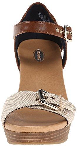 Dr. Scholls Sandale Compensée Molton Femme, Taupe, 7 M Taupe