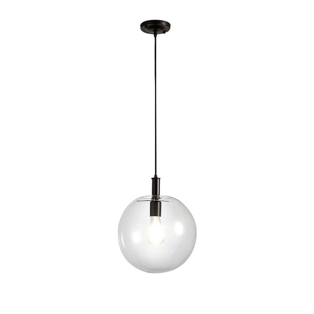 NIUZIMU Pendelleuchten Moderne Einfache Einzigen Kopf Kreative Kronleuchter Kreative Restaurant Hotel Glaskugel Kronleuchter Beleuchtung Innenbeleuchtung (Größe   30CM)