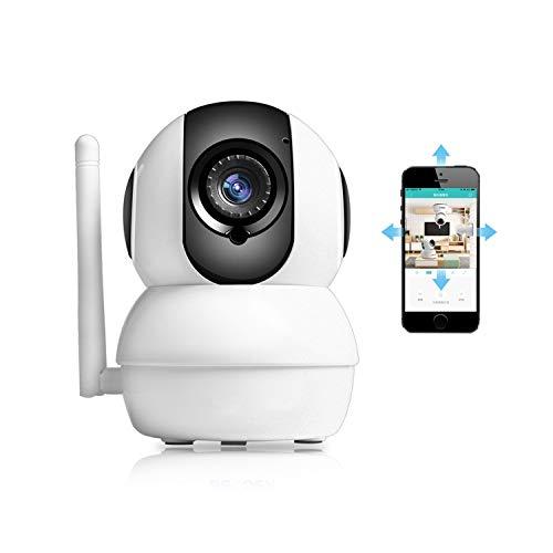 (Full Hd 1080P Wireless IP Camera Remote View 2.0Mp CCTV WiFi Surveillance Home Security Baby Monitor 128Gb Sd Card Slot,1080P (No Sd Card),EU Plug)