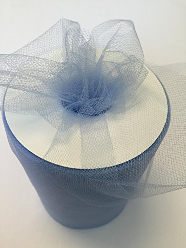 Tulle Fabric Spool/Roll 6 inch x 100 yards (300 feet), 34 Colors Available, On Sale Now! (copenhengen)